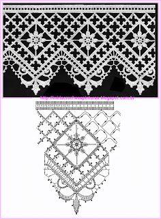 Häkeln Borte Bordüre Spitzen -  crochet edging lace border MIRIA CROCHÊS E PINTURAS: RENDAS DE CROCHÊ