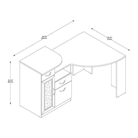 Desk Dimensions Corner Desk And Desks On Pinterest