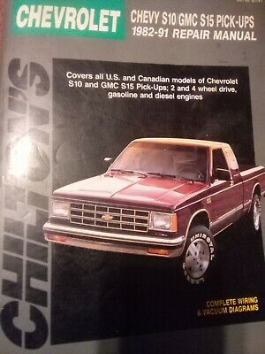 Advertisement Ebay Chilton S Repair Manual 8141 Chevrolet S 10 Gmc S15 Pickups 1982 91 In 2020 Canadian Models Chevy S10 Repair Manuals