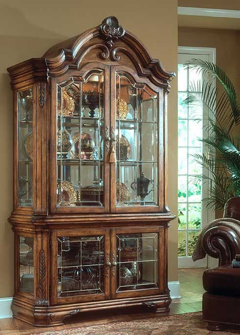 Tuscano Dining Set By Aico Aico Dining Room Furniture Curio Cabinet Tuscan Decorating Tuscan Furniture