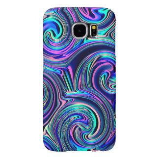 Colorful Blue Turquoise Purple Spirals Pattern Samsung Galaxy S6 Cases