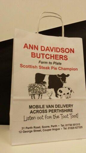 Paper twist bags for Ann Davidson