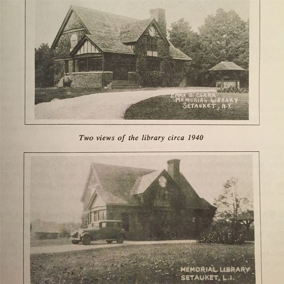 Two views of Emma Clark Library, circa 1940