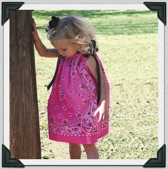 Two bandanas + ribbon = this adorable dress :)