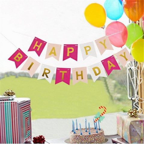 Astonishing Happy Birthday Bunting Banner With Images Happy Birthday Funny Birthday Cards Online Aboleapandamsfinfo