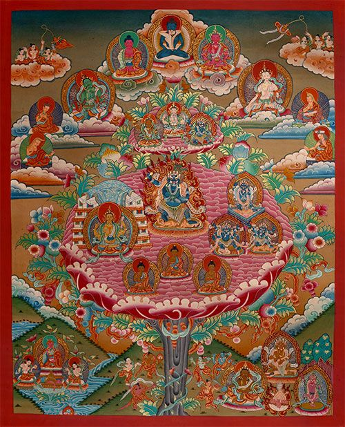 Thangka Vajrapani . An enchanting thangka of Vajrapani (Chagna Dorje) assembly tree / Vajrapani Versammlungsbaum. Buddhistische Thangkas, Statuen und Mandalas. Marvelous buddhist Statues, Mandala and Thangka from Snow Lion