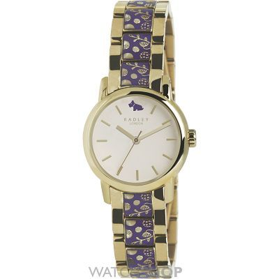 Purple and gold Radley watch