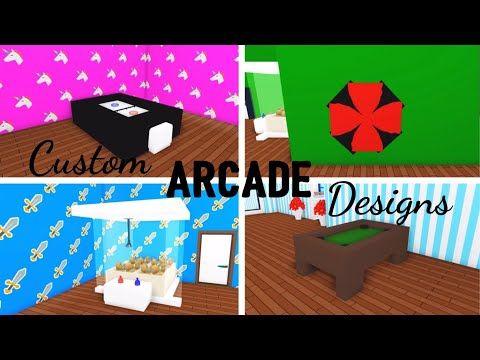 4 Custom Arcade Gaming Design Ideas Building Hacks Roblox Adopt Me Pool Table Air Hockey Table Youtube Air Hockey Cute Room Ideas Adoption