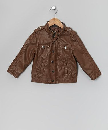 Urban Republic Brown Nappa Lamb Faux Leather Jacket - Toddler ...