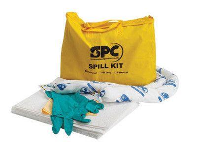 "Brady 20"" X 16"" X 4"" Bag SPC Hazwik Hi-Viz Yellow PVC Economy Portable Spill Kit"