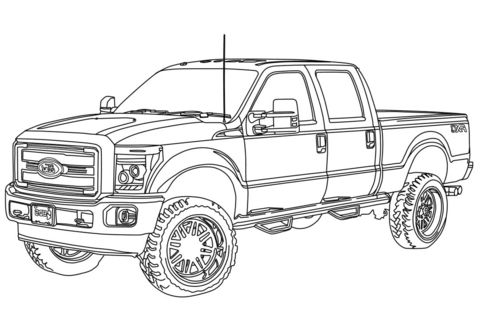 Coloring Ford Pages Truck 2020 With Images Truck Coloring