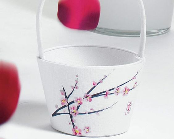 For your flower girl & her cherry blossoms...too cute.