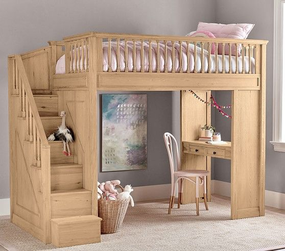 Fillmore Stair Loft Kids Loft Beds Childrens Room Decor Bunk