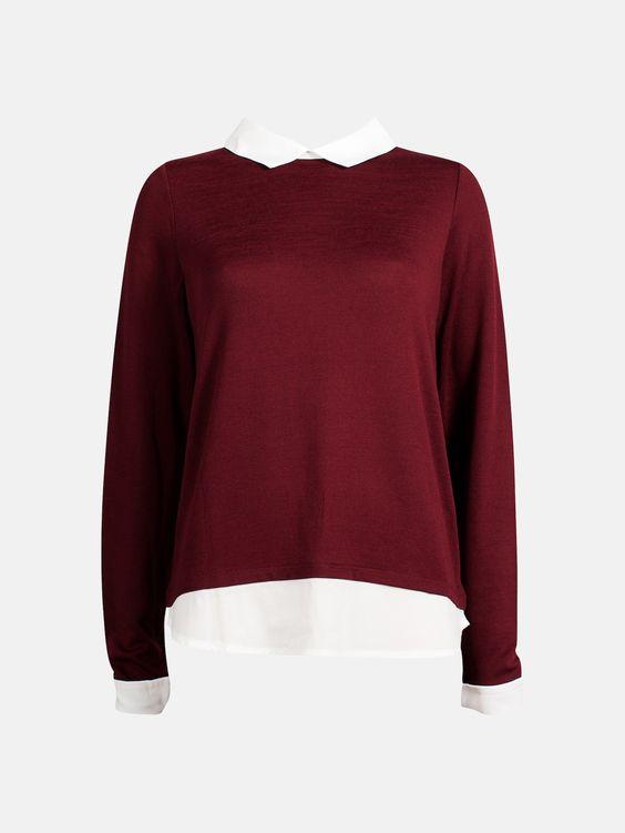 Spike sweater | 7171520 | Röd | BikBok | Sverige