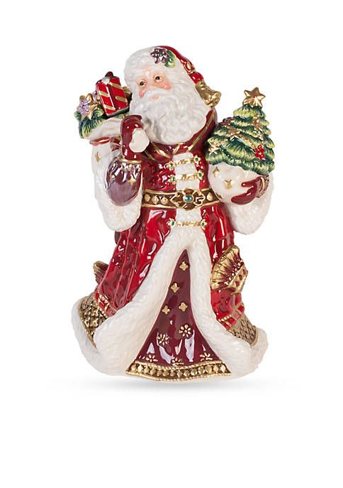 Fitz And Floyd Holiday Musical Renaissance Holiday Musical Tune Oh Holy Night Fitz And Floyd Santa Figurines Christmas Tree Toppers