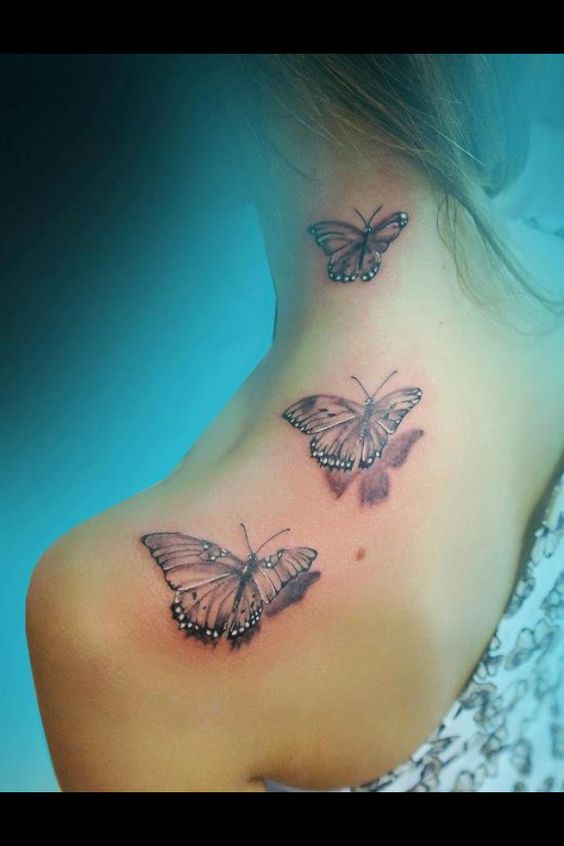 3d butterfly tattoo my next chest piece tats for Butterfly breast tattoos