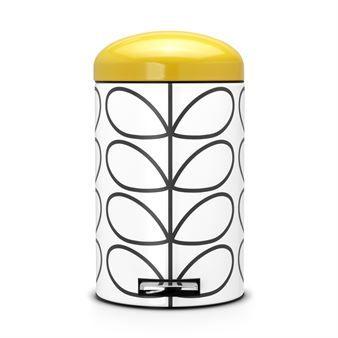La poubelle à pédale Retro Orla Kiely 12L de Brabantia offre un design unique qui mérite sa place au bureau, dans la cuisine ou la salle de bain. Elle captera à coup sûr tous les regards grâce à son ravissant motif. Cette poubelle à pédale est équipée d'un système de haute technologie qui permet au couvercle de se fermer silencieusement et de le garder ouvert si souhaité. Elle est facile à nettoyer grâce à son seau intérieur en plastique amovible et peut aisément être déplacée grâce à sa…