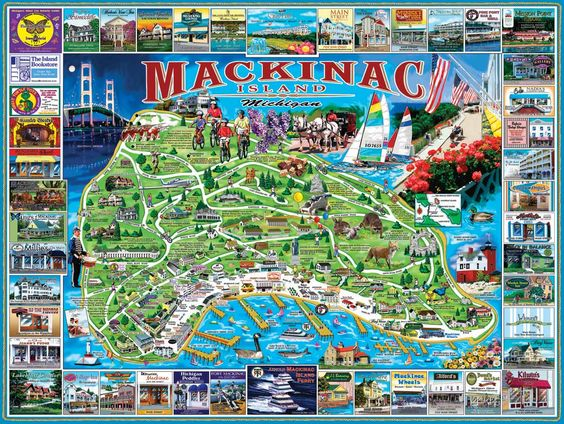 mackinac island maps Mackinac Island White Credited – Mackinac Island Tourist Attractions Map