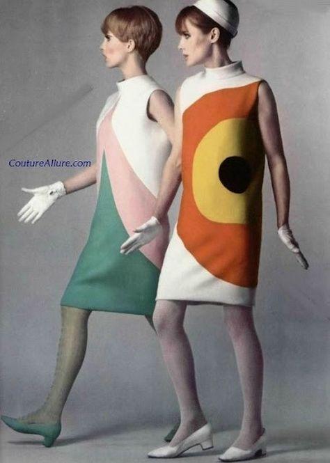 Pierre Cardin mod fashions, 1960s,