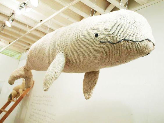 Big Knitted Whale by Hannah Haworth
