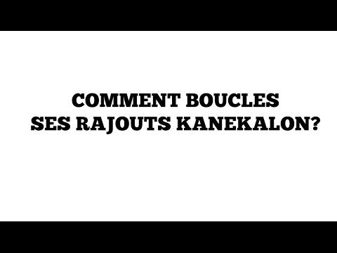 Comment boucler ses mèches Kanekalon? - YouTube