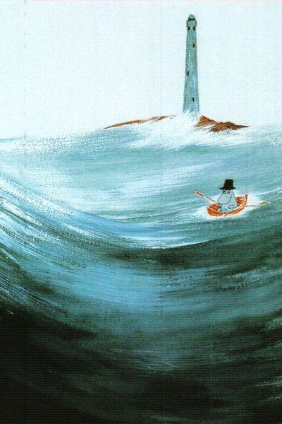 I want a framed poster of this. Moominpapa at Sea. Tove Jansson.