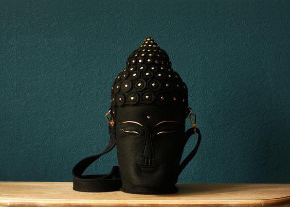 Buddha Kopf Filztasche von krukrustudio auf Etsy