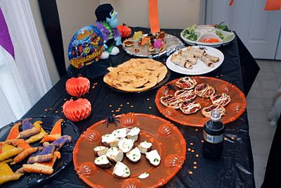 Halloween-themed party foods for kids or adult parties