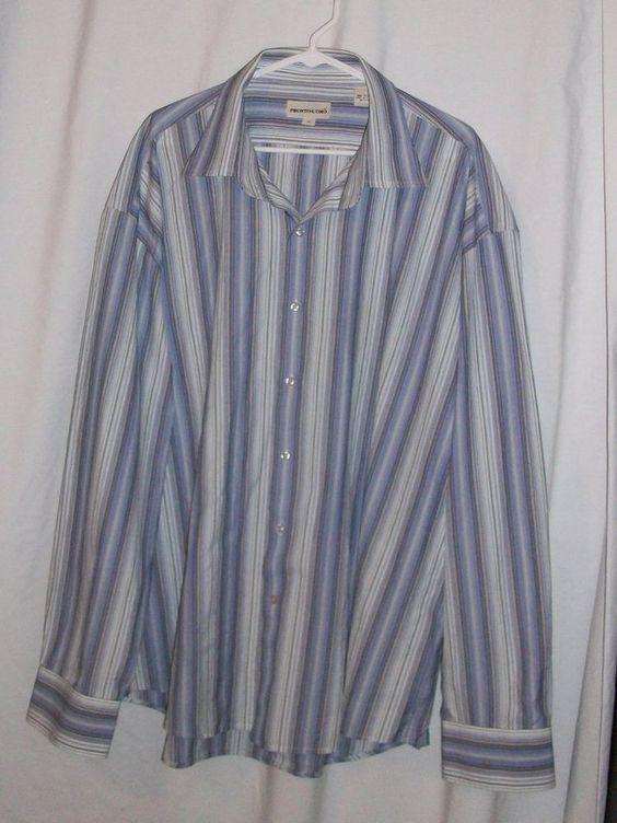 Sz 3X Men's Pronto.Uomo Purple Line Casual Dress Shirt #ProntoUomo