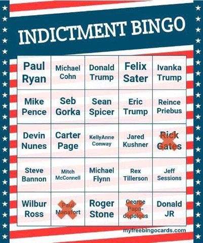 Indictment Bingo 10/30/17