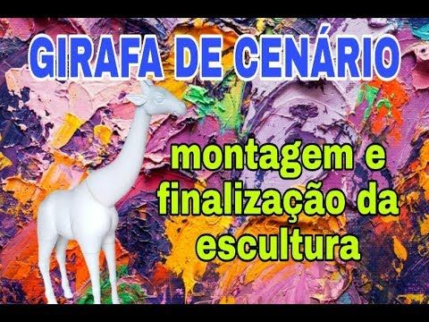 Coma Esculpir Em Isopor Girafa De Senario Montagem E Finalizacao