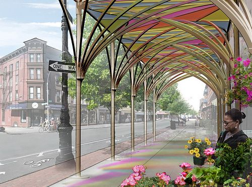 Public spaces in new york and public on pinterest for Architecture upbrella