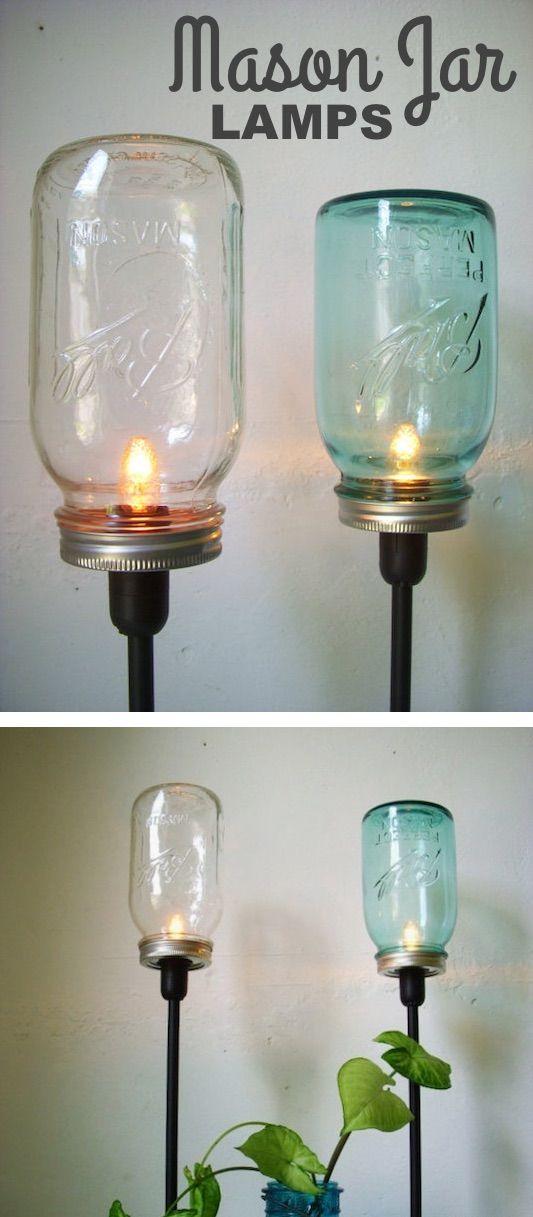 Diy Mason Jar Lamps Diy Mason Jar Crafts And Ideas For