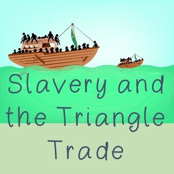 US History Middle School: Slavery and the Triangle Trade -- In sixty or more minute, middle school US history lesson has a customized reading included and helps students answer the following questions: •	How are slavery, tobacco and cotton related economically and politically? •	Who was involved on a large scale (geographic areas) and on a small scale (people)? •	What caused this trade and what effect did it have?