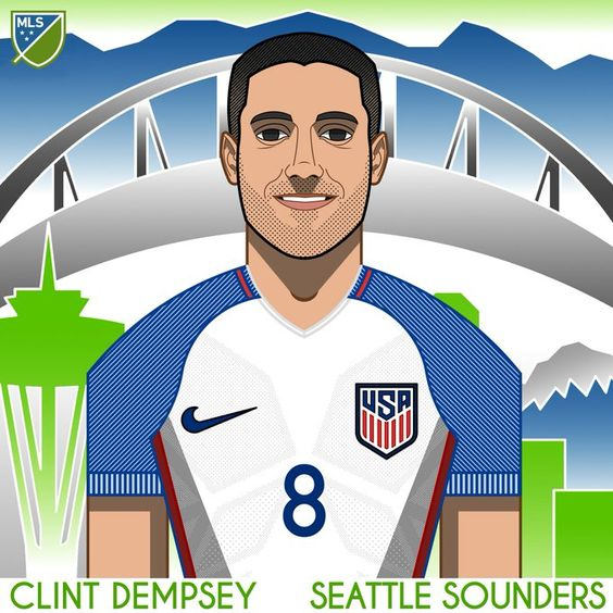 Clint Dempsey! The Sounders FC forward puts the USMNT up 1-0 with his 50th goal for the national team.