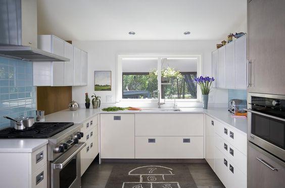 Las cocinas en forma de u dejan el espacio libre en el for Cocinas paralelas