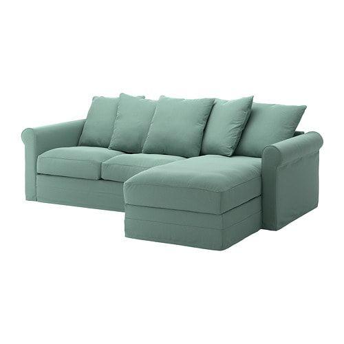 Gronlid Sofa With Chaise Ljungen Light Green Ikea Green Sofa Ikea Sofa Living Room Furniture Layout