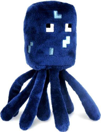 Minecraft Squid Plush  For the girl who loves Minecraft, a baby Squid plush toy from the hit video game. These Overworld Animal Mobs are fun for all ages!