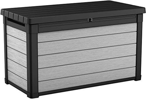 Best Seller Keter Denali 100 Gallon Resin Large Deck Box Patio Furniture Cushion Storage Grey Black Online Tophitsgoods In 2020 Outdoor Deck Storage Box Outdoor Storage Deck Box Storage