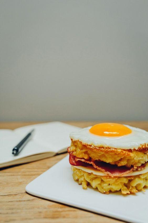Recette de Croque Madame aux Coquillettes © Fabien Les Bons Moments / Chloé Cuisine en Vert / Hëllø Blogzine // Hëllø Blogzine www.hello-hel...