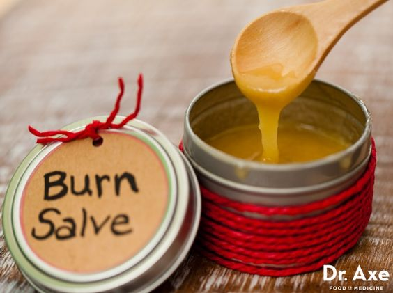 This homemade burn salve recipe helps calm the inflamed injury site while disinfecting it and replenishing the skin with nutrients and hydration.
