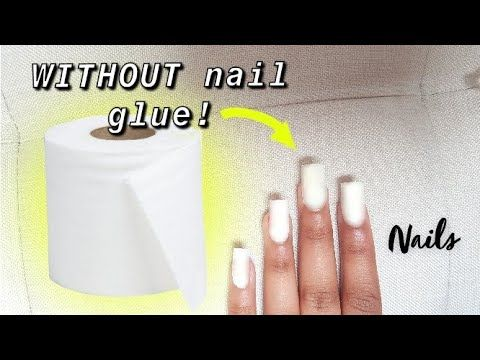 Fake Nails Out Of Tissue Without Nail Glue Tissue Nails At Home W O Glue Youtube In 2020 Fake Nails Glue On Nails Nails At Home