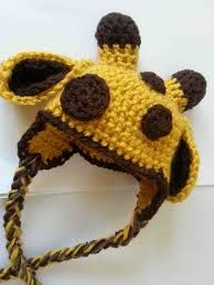 Giraffe crochet hat - CAN MAKE, mostly circles