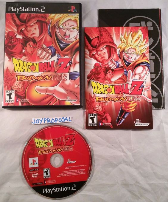 Dragon Ball Z Budokai 1 Ps2 Fight Train Anime Action Animated Includes Poster