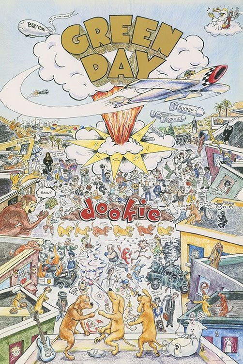 Green Day Dookie Poster In 2020 Green Day Poster Green Day Dookie Rock Band Posters