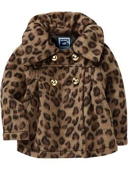 Shirred-Collar Wool-Blend Coats for Baby   Old Navy