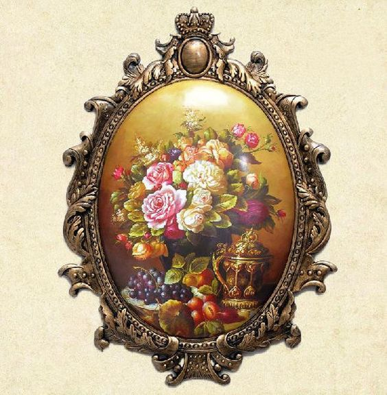 Vintage Flower Wall Art Painting @ http://fvvdecor.com/products/vintage-flower-wall-art-painting