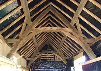 Oak vaulted ceiling