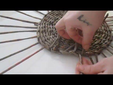 Gazeteden sepet örme Bölüm 2 - Çubukların boyanması - Geri dönüşüm - YouTube