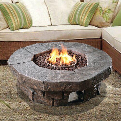 Peaktop Outdoor Propane Gas Fire Pit Reviews Wayfair Ca
